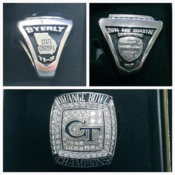Georgia Tech State Champ Rings = Locker Room Material. Sonic Rings. Autumn Engagement Rings. Iron Man Rings. Pale Blue Engagement Rings. Special Rings. Chris Engagement Rings. Good Quality Engagement Rings. Chanel Rings