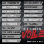 UGA Women's Volleyball: Volleyball Releases 2017 Slate