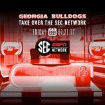 UGA Football: Dawgs To Take Over SEC Network Friday