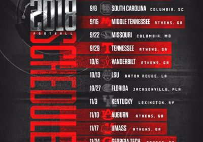 UGA Football: Dawgs Officially Release 2018 Schedule – Field