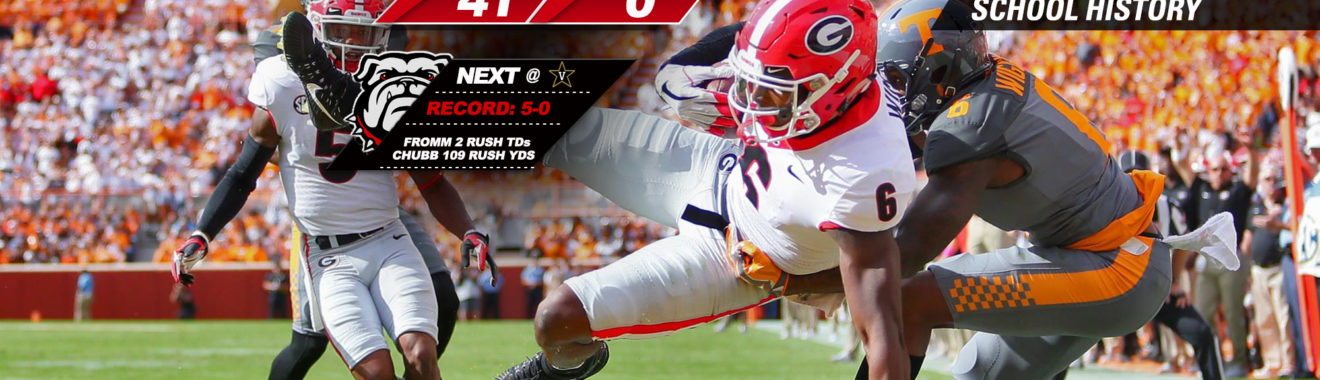 ... uga football dawgs blank tennessee 41 0