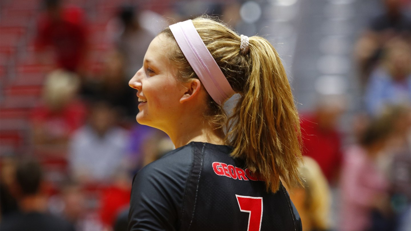 UGA Women s Volleyball Georgia Eliminates UCF in NIVC Second