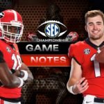 UGA Football: Game Notes – Dawgs and Tide to Decide SEC Championship