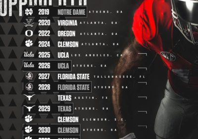 Uga Football Schedule 2020 UGA Football: Georgia Signs Both Florida State and Clemson for a